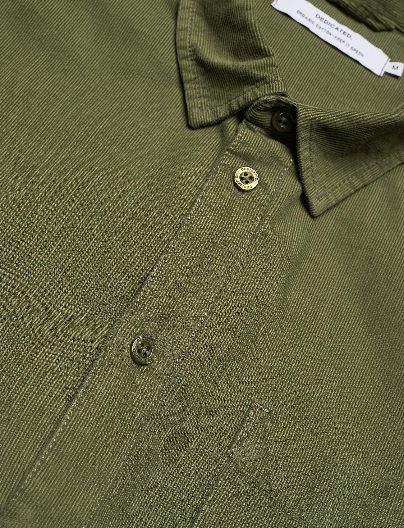 DEDICATED Shirt Varberg Corduroy - Skjorter LEAF GREEN - Menn Klær