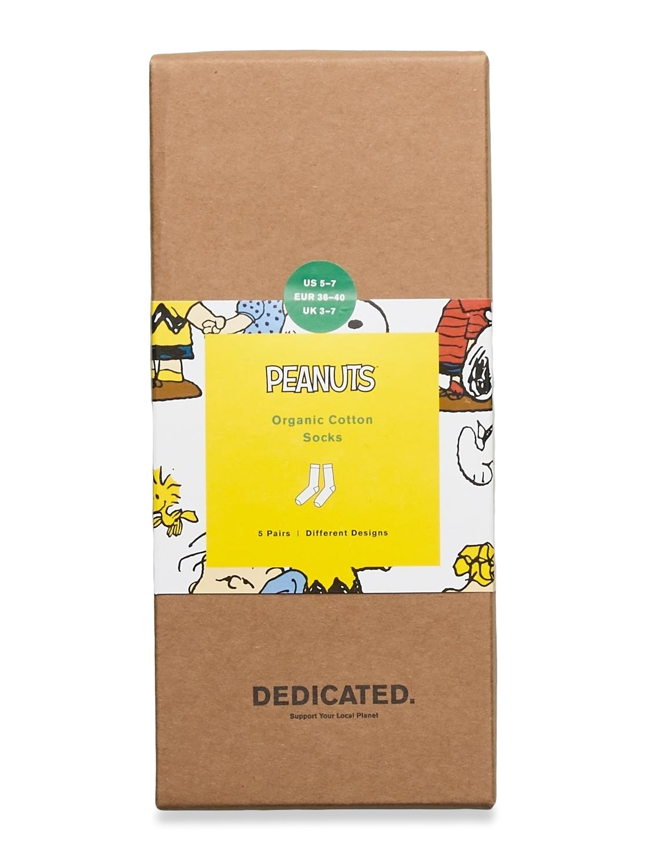 DEDICATED - Socks Sigtuna Peanuts 5-pack - chaussettes régulières - multi - 0