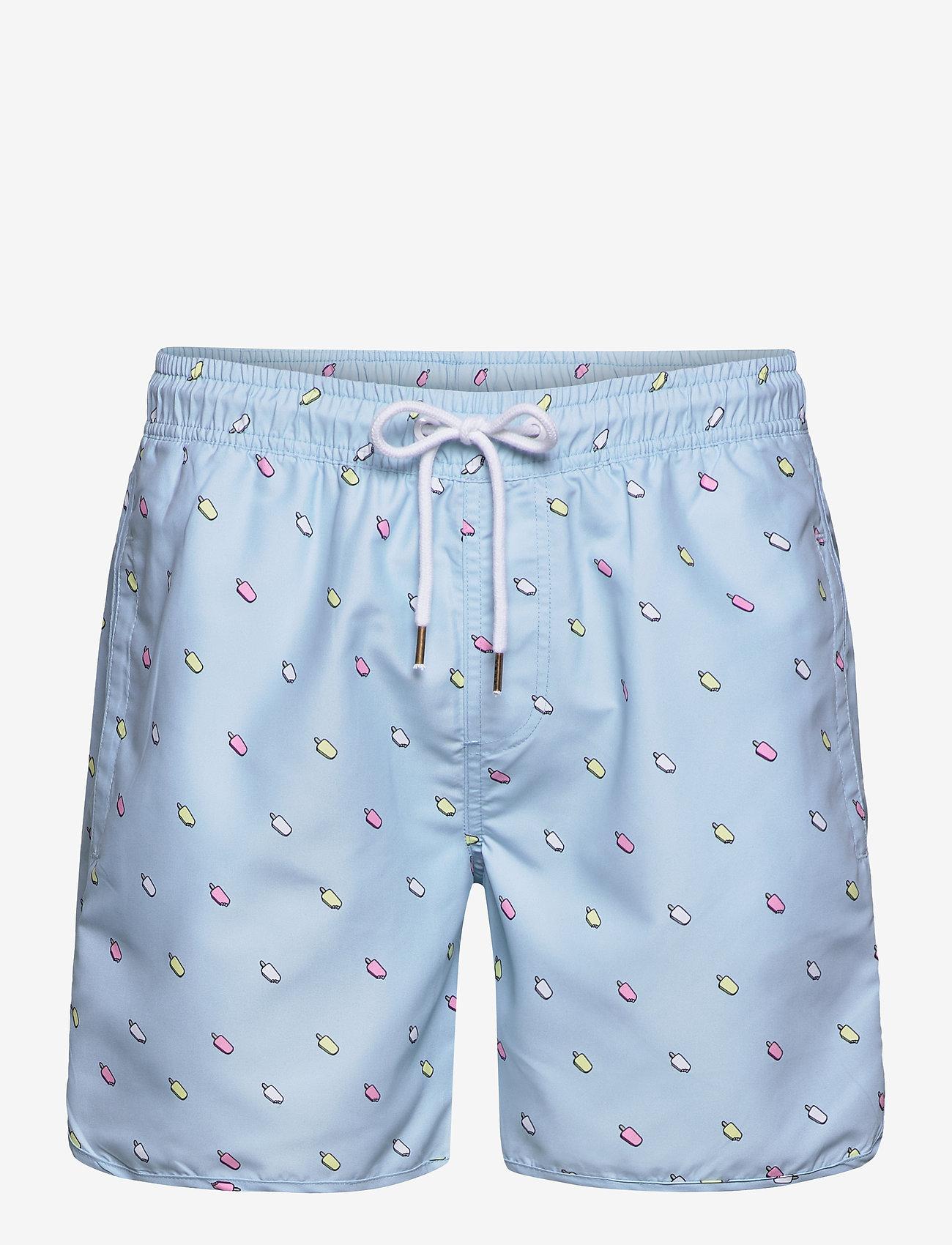 DEDICATED - Swim Shorts Ice Creams - shorts de bain - light blue - 0