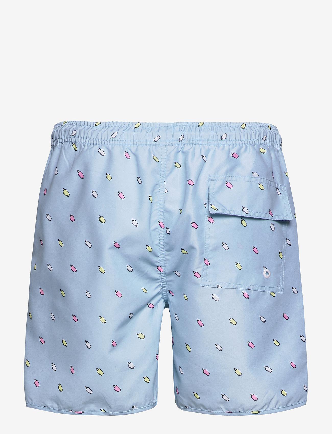 DEDICATED - Swim Shorts Ice Creams - shorts de bain - light blue - 1