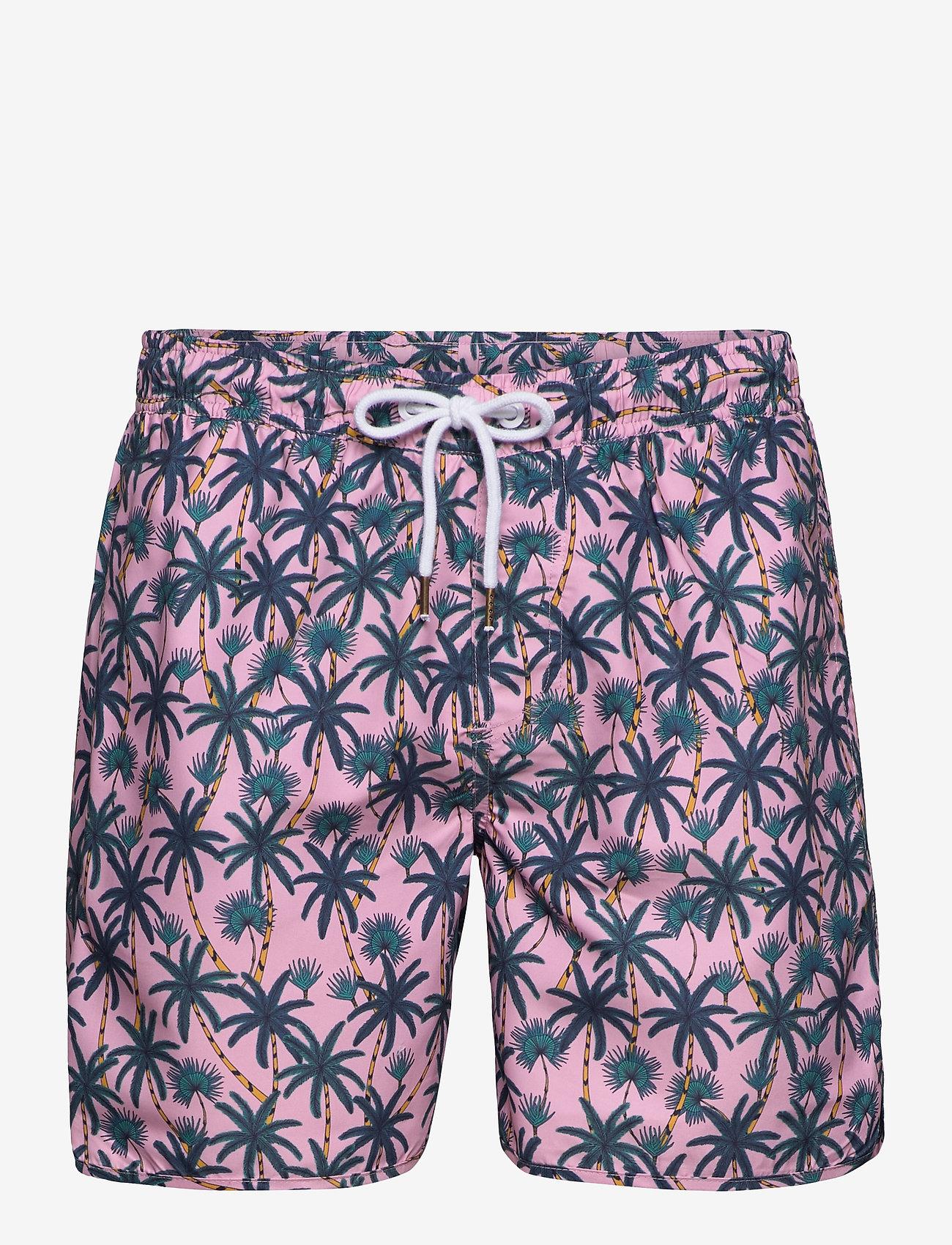 DEDICATED - Swim Shorts Beach Palms - shorts de bain - pink - 0