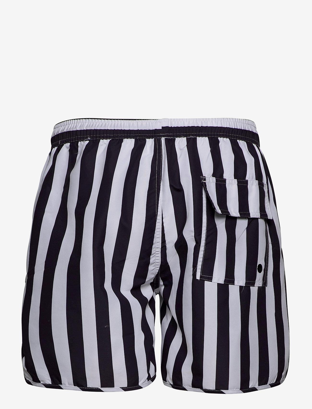 DEDICATED - Swim Shorts Big Stripes - shorts de bain - white - 1