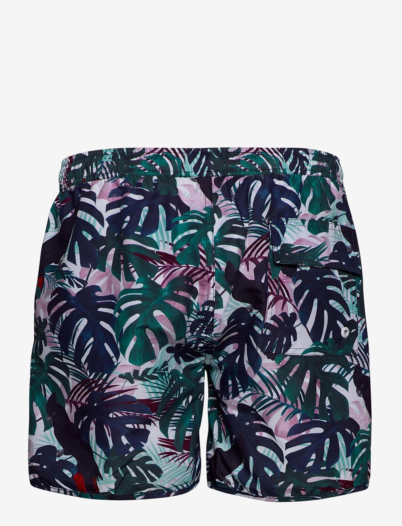 DEDICATED - Swim Shorts Color Leaves - shorts de bain - green - 1