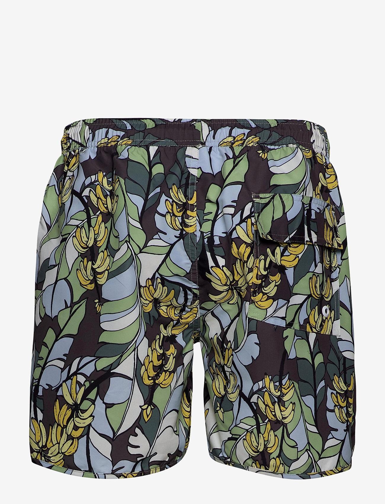DEDICATED - Swim Shorts Banana Leaves - shorts de bain - green - 1