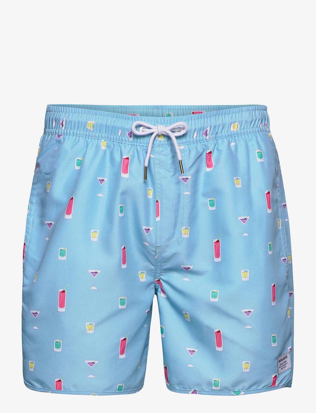 DEDICATED - Swim Shorts Drinks - shorts de bain - turqouise - 0