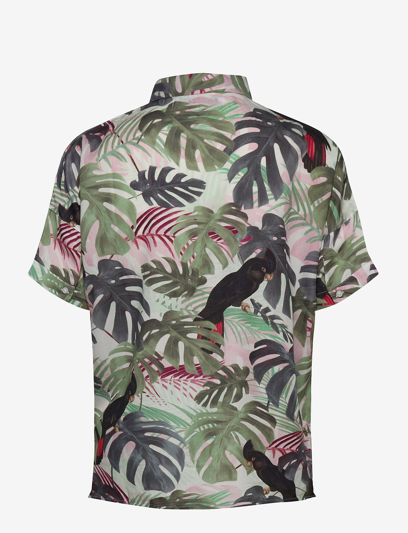 DEDICATED - Shirt Short Sleeve Nibe Color leaves - overhemden met korte mouwen - green - 1