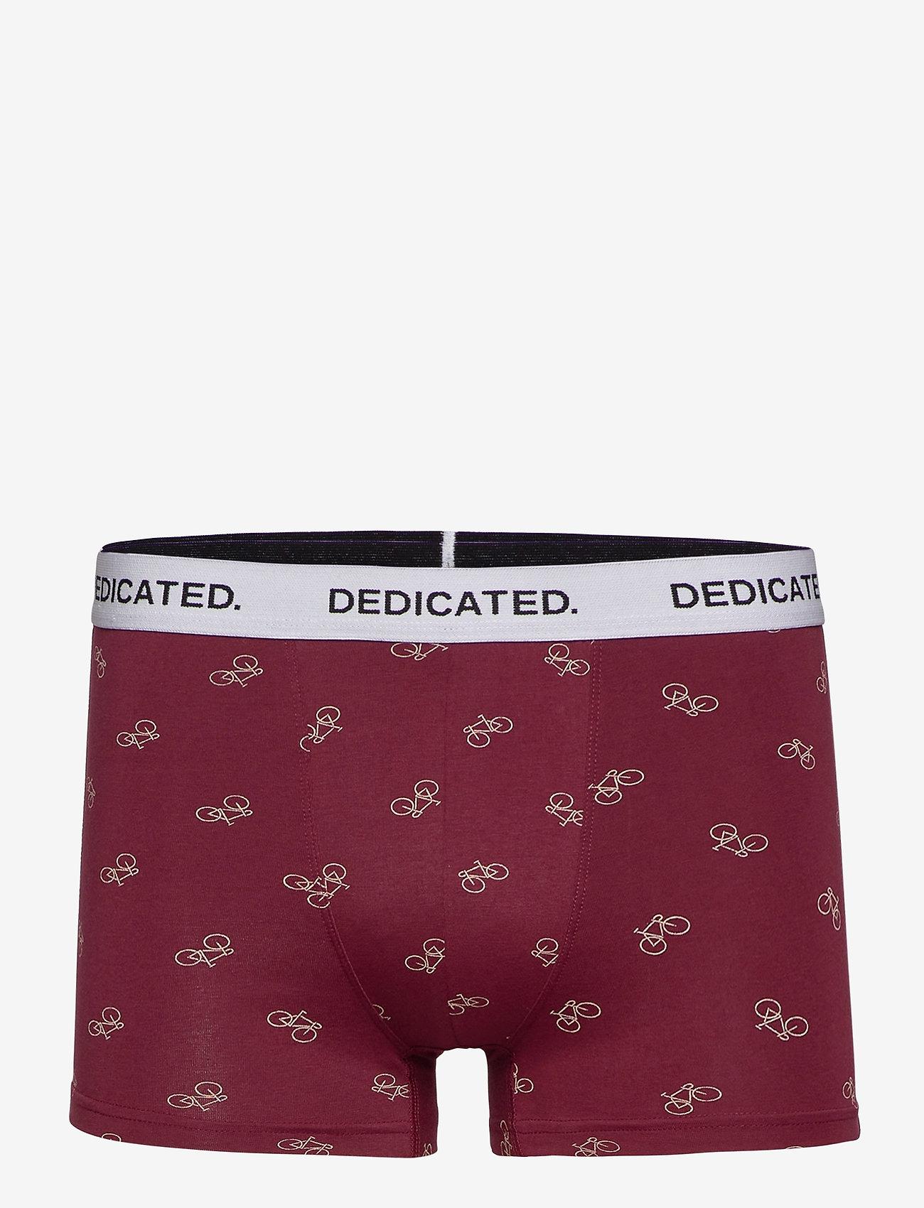 DEDICATED - Boxer Briefs Kalix Bike Pattern - boxers - burgundy - 0