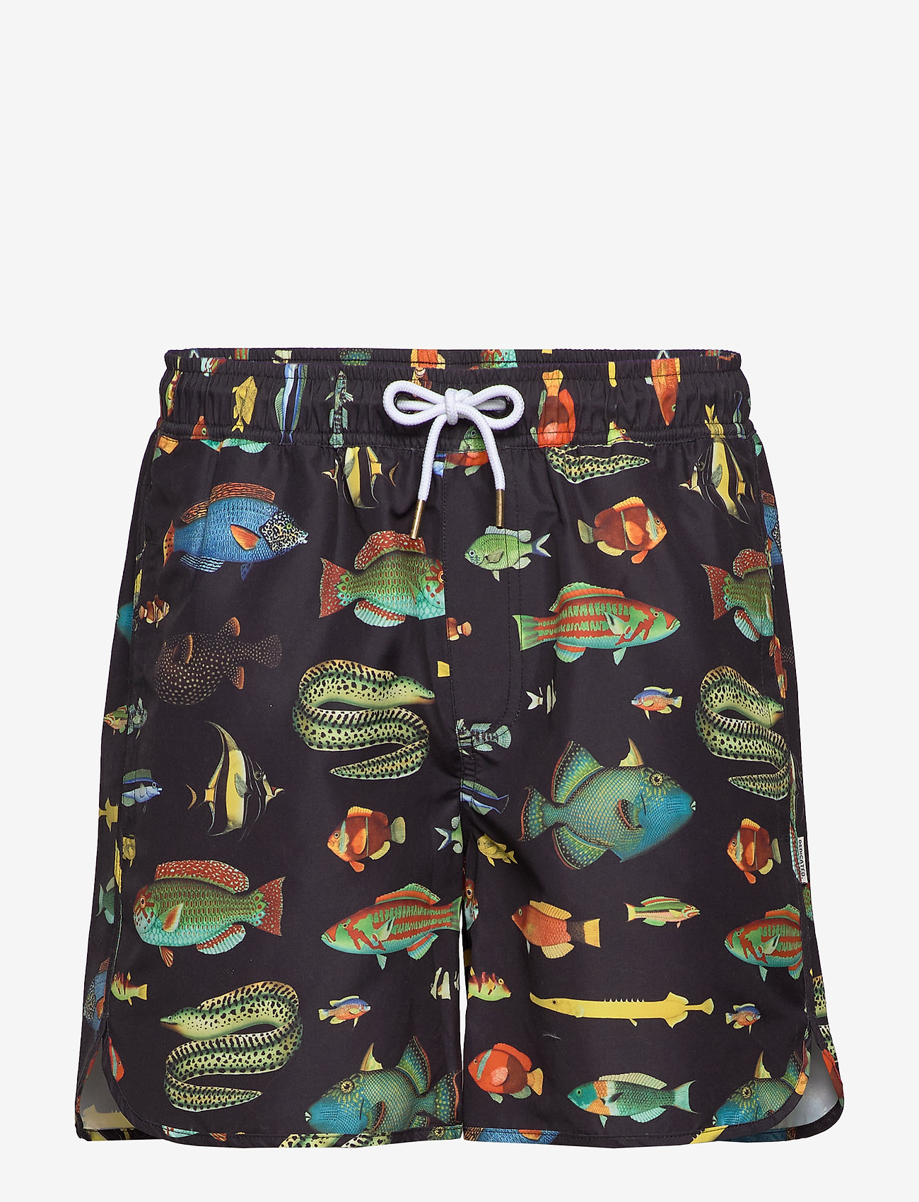 DEDICATED - Swim Shorts Sandhamn Fish - badehosen - black - 0