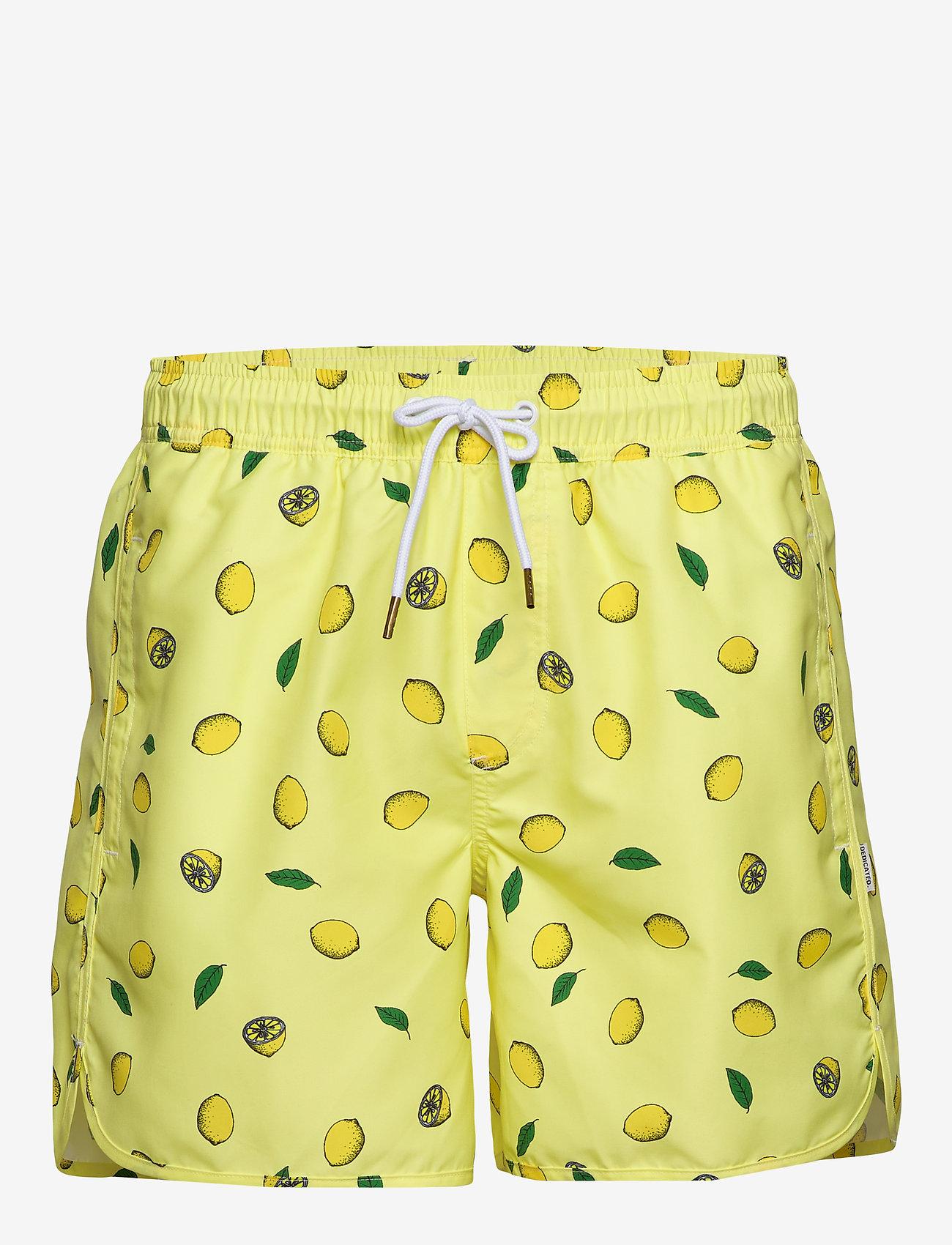 DEDICATED - Swim Shorts Sandhamn Lemons - uimashortsit - yellow