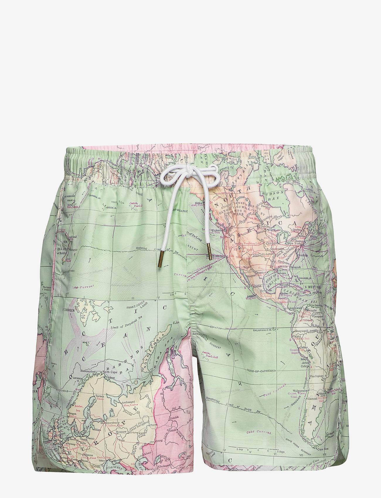 DEDICATED - Swim Shorts Sandhamn Map - uimashortsit - multi color