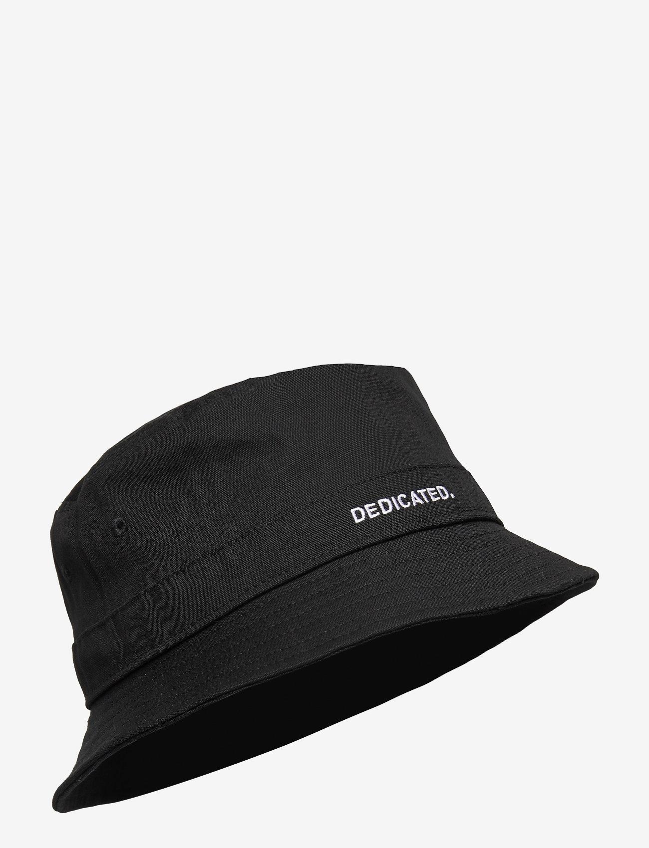 DEDICATED - Bucket Hat Dedicated Logo Black - bonnets & casquettes - black - 0