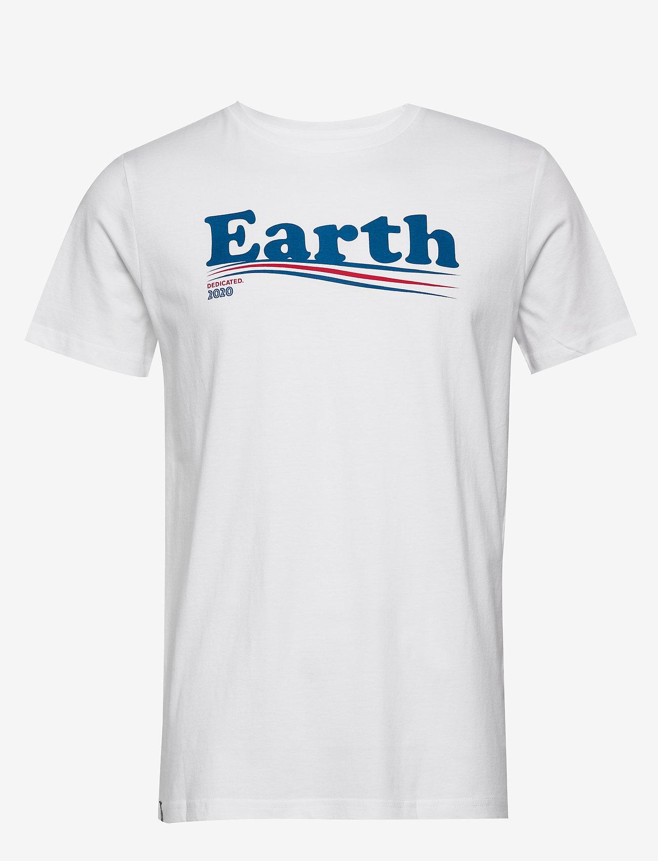 DEDICATED - T-shirt Stockholm Vote Earth - lyhythihaiset - white