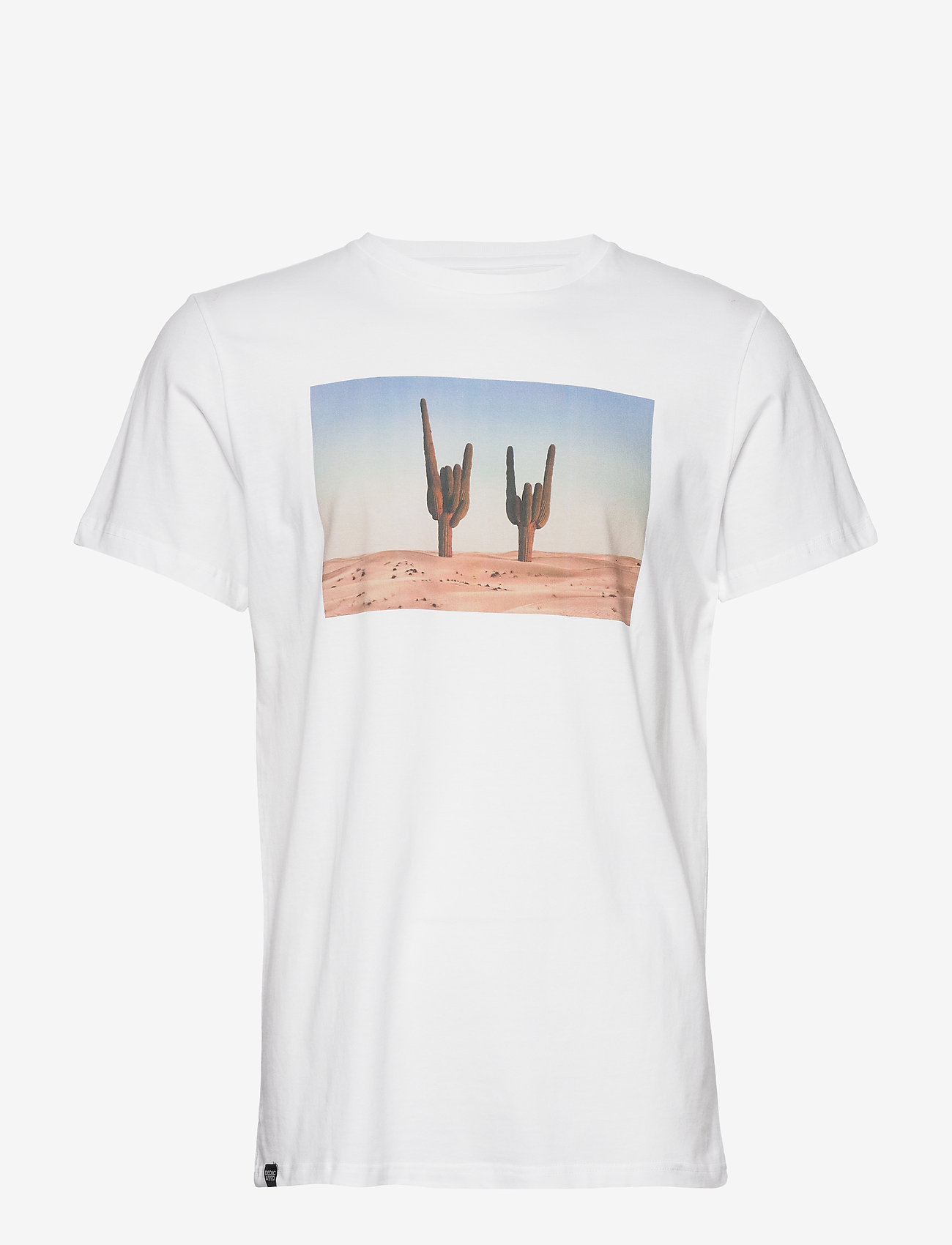 DEDICATED - T-shirt Stockholm Cactus Sign - lyhythihaiset - white