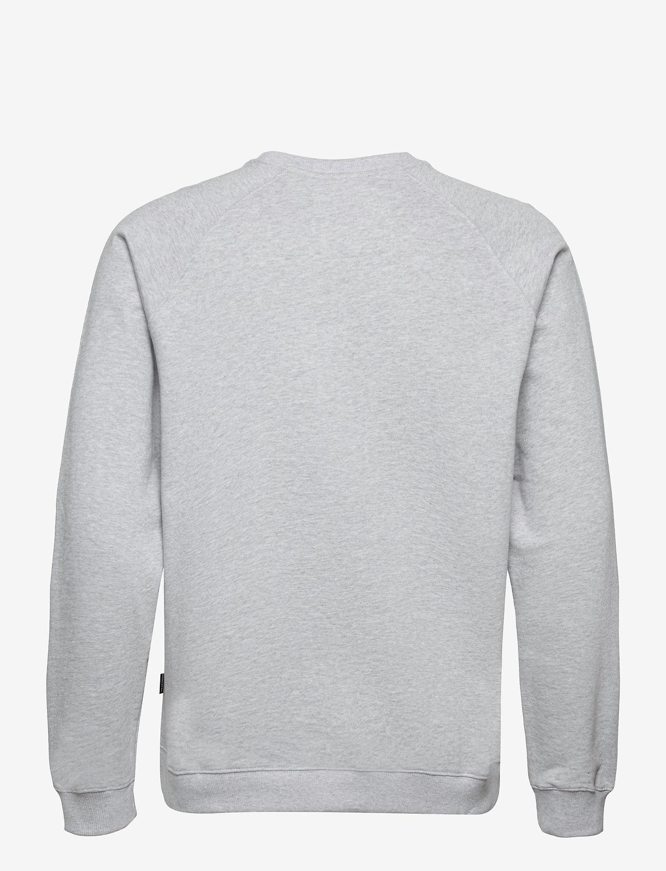 DEDICATED - Sweatshirt Malmoe Peanuts Logo Grey Melange - sweats - grey melange - 1