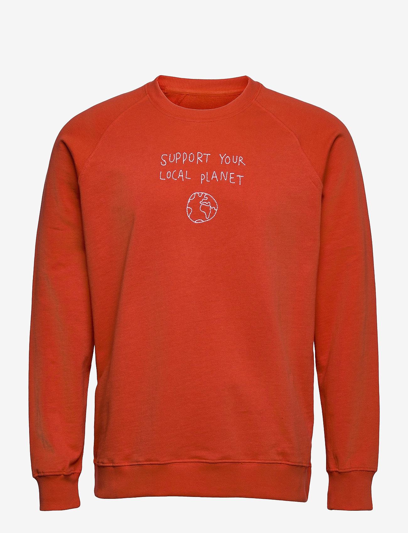 DEDICATED - Sweatshirt Malmoe Local Planet Pale Red - sweats - paprika - 0