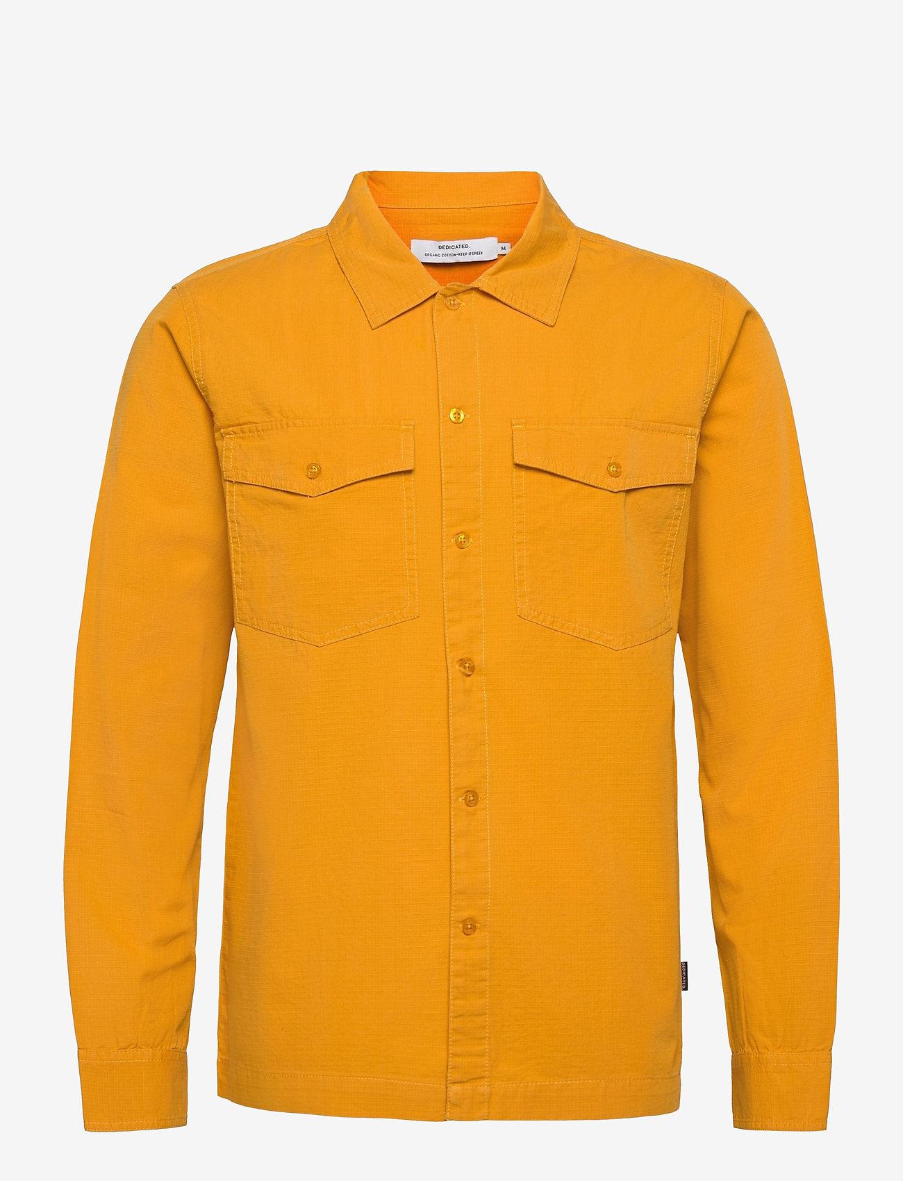 DEDICATED - Shirt Edsbyn Golden Yellow - chemises à carreaux - golden yellow - 0