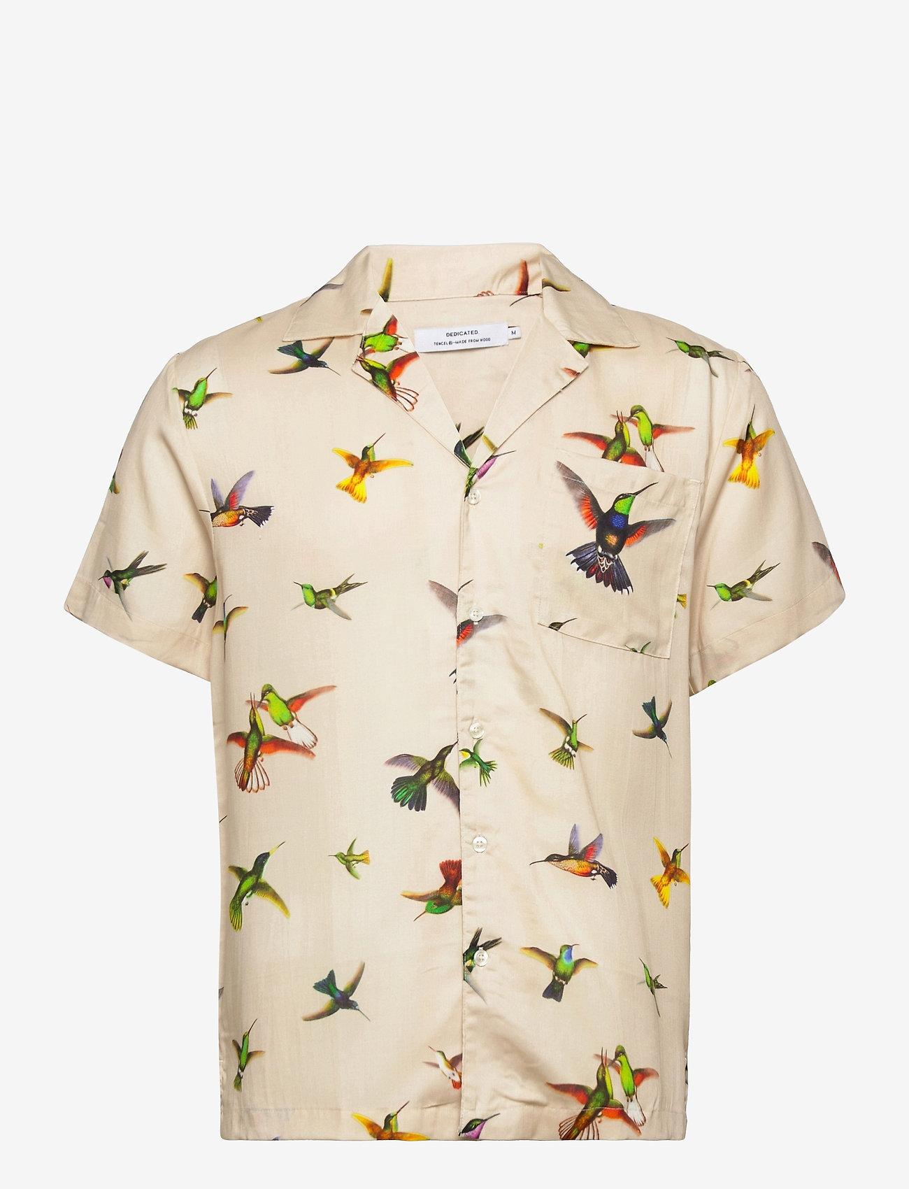 DEDICATED - Shirt Short Sleeve Marstrand Flying Hummingbirds Multi Color - geruite overhemden - multi color - 0