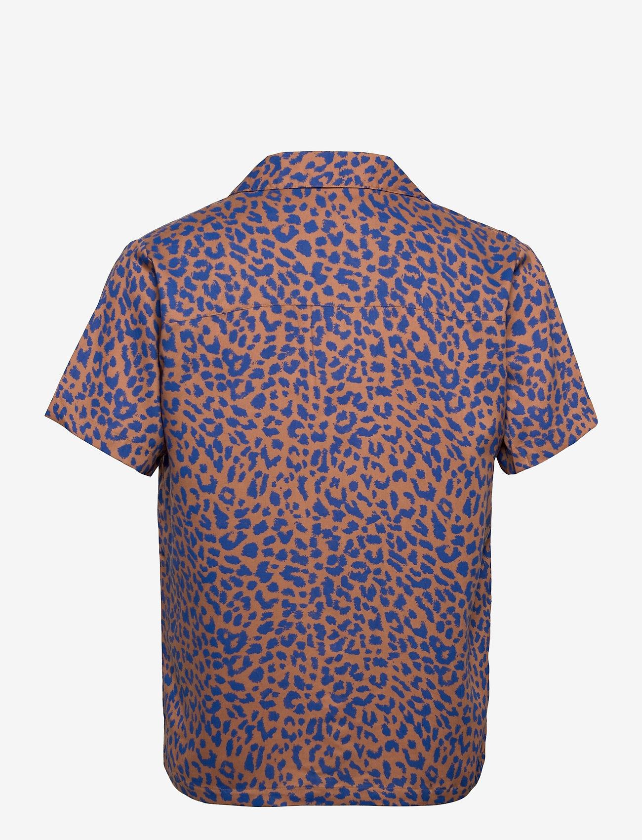 DEDICATED - Shirt Short Sleeve Marstrand Leopard Light Brown - geruite overhemden - chipmunk - 1
