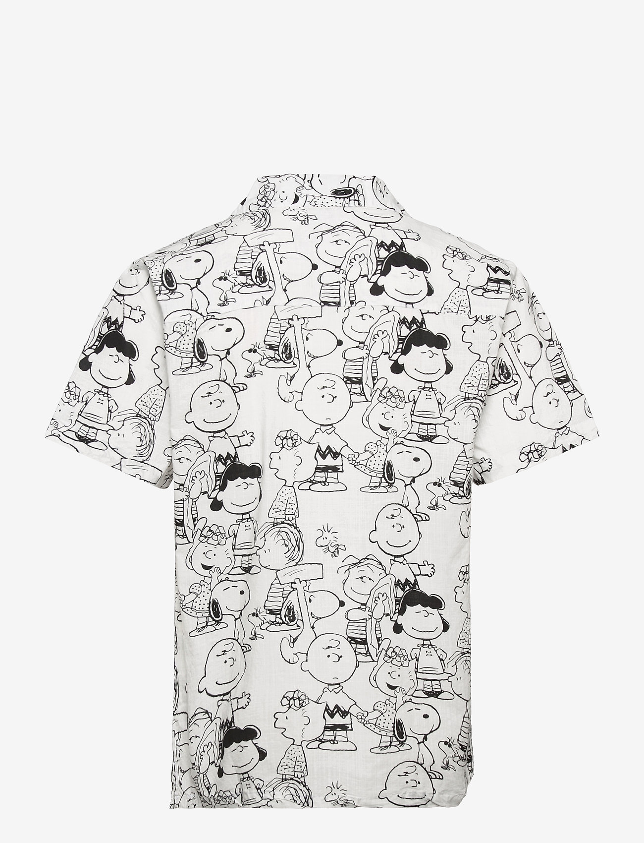 DEDICATED - Shirt Short Sleeve Marstrand Peanuts AOP Off-White - geruite overhemden - multi color - 1