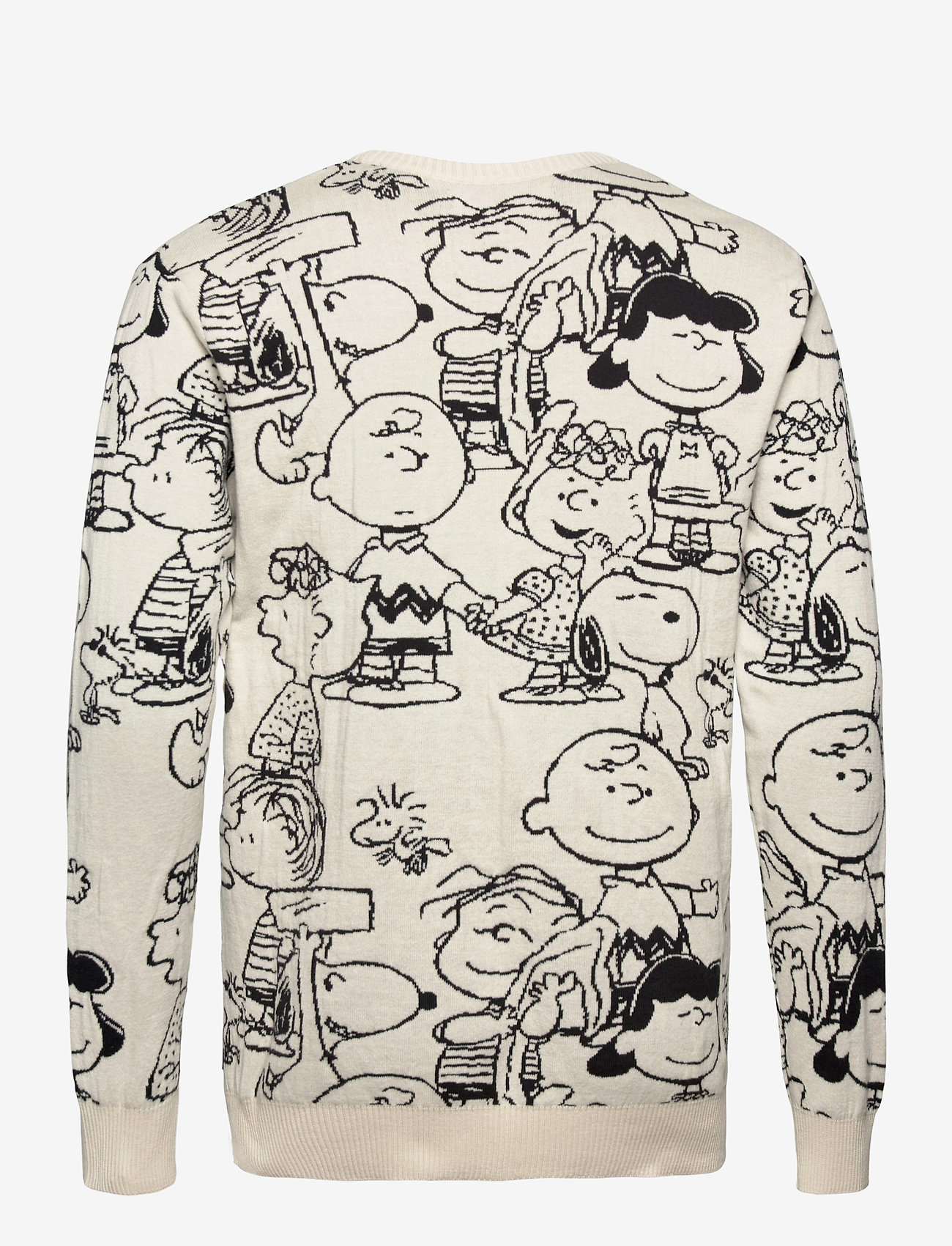 DEDICATED - Sweater Mora Peanuts AOP Off-White - truien met ronde hals - off-white - 1