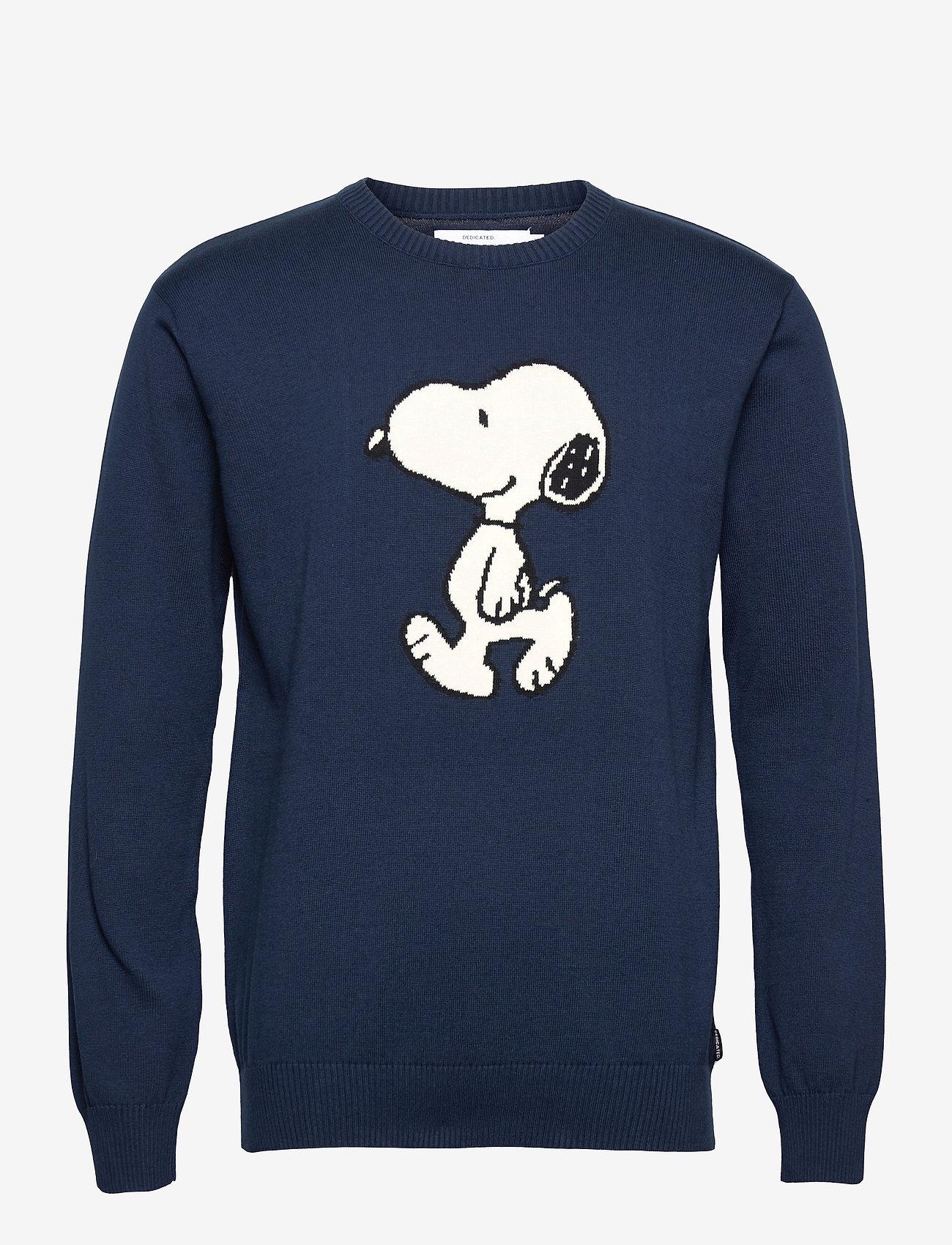 DEDICATED - Sweater Mora Snoopy Navy - truien met ronde hals - black iris - 0