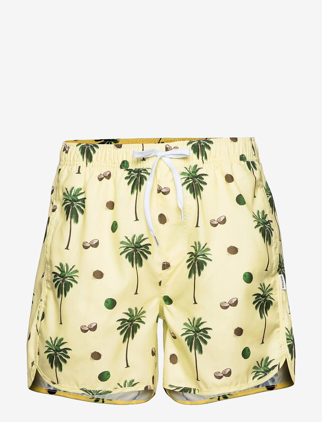 DEDICATED - Swim Shorts Sandhamn Coconuts Yellow - shorts de bain - yellow - 0