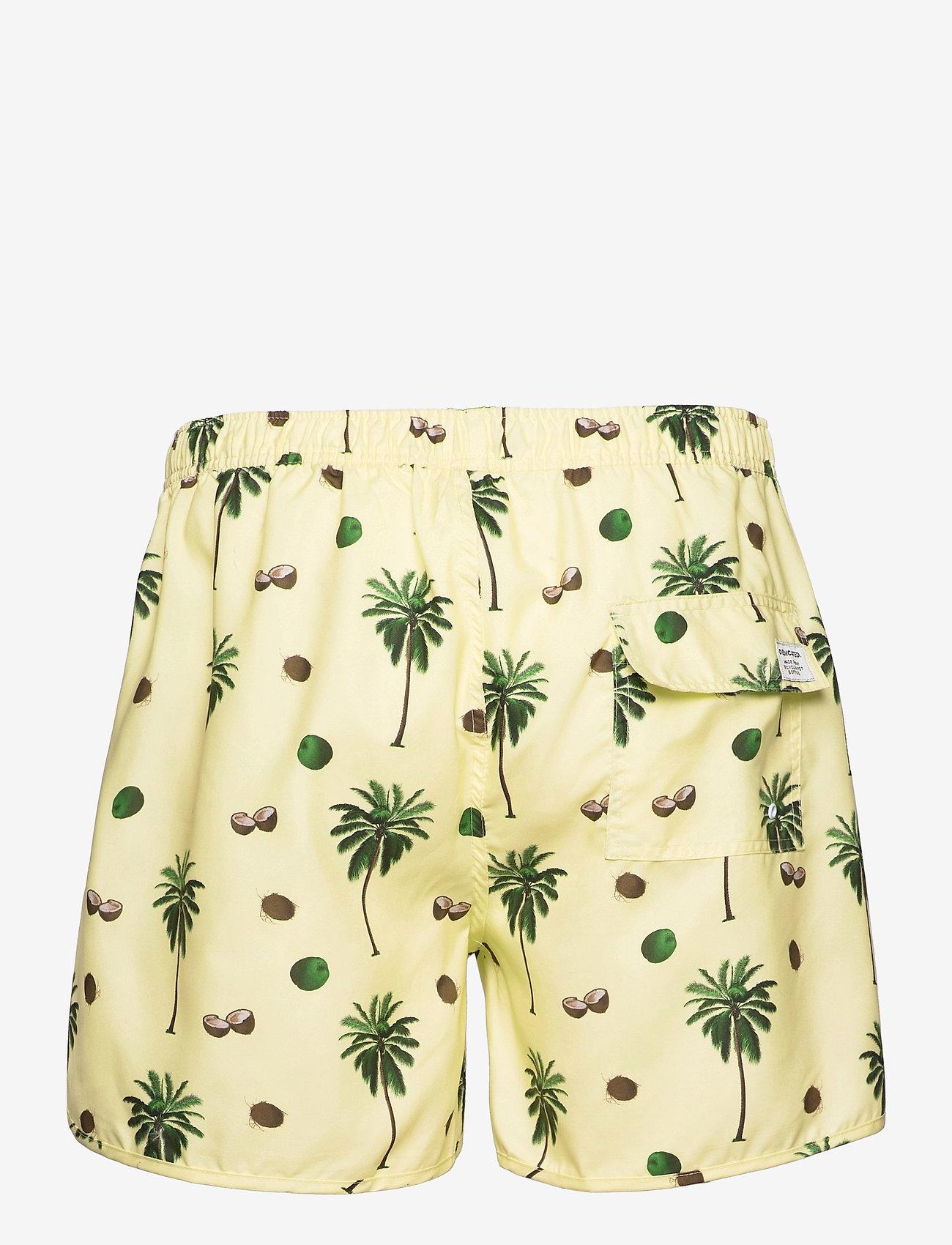 DEDICATED - Swim Shorts Sandhamn Coconuts Yellow - shorts de bain - yellow - 1
