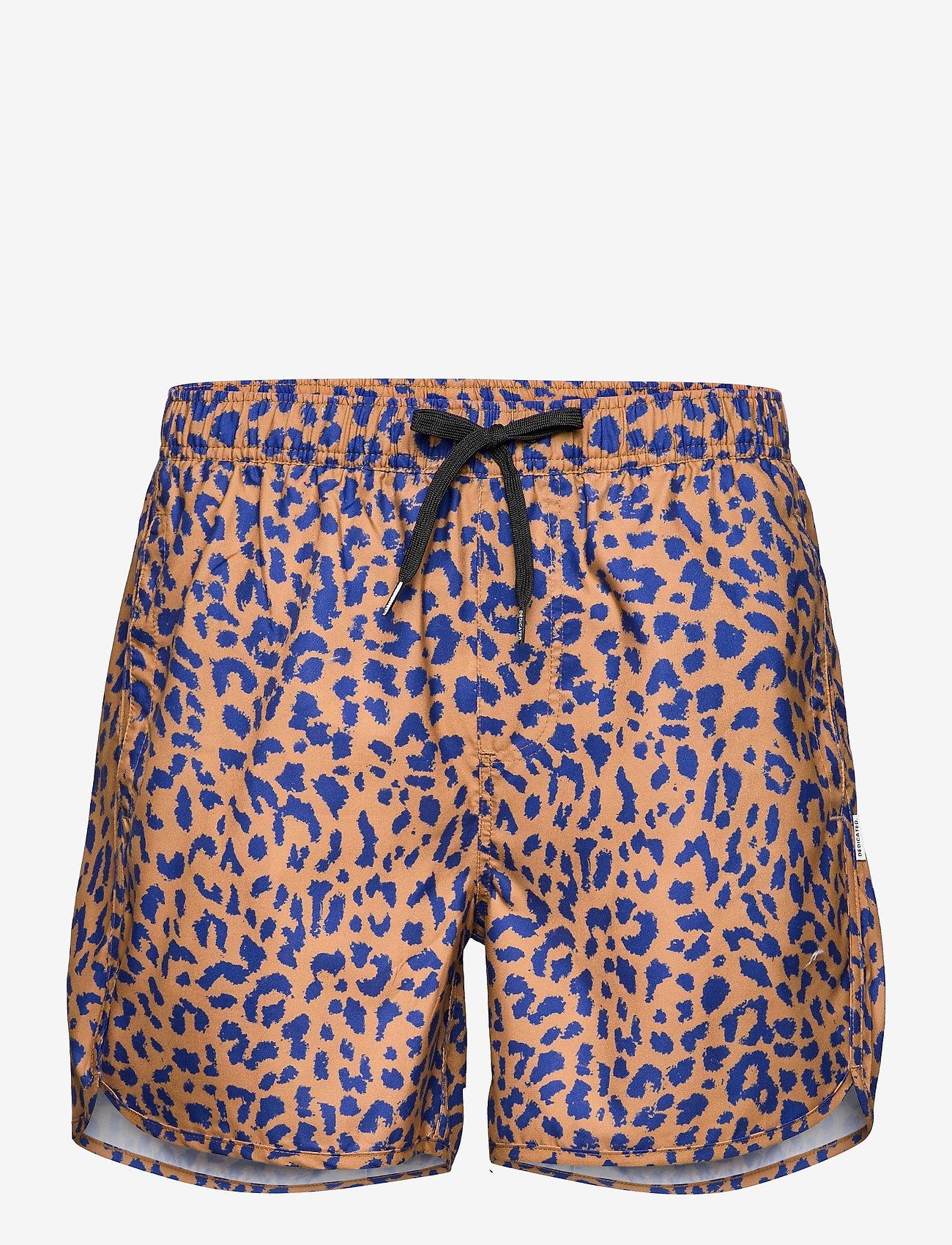 DEDICATED - Swim Shorts Sandhamn Leopard Light Brown - shorts de bain - chipmunk - 0