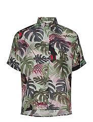 Shirt Short Sleeve Nibe Color leaves - GREEN