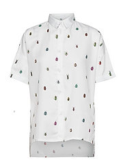 Shirt Short Sleeve Nibe Bugs - WHITE