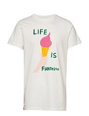 T-shirt Stockholm Life Is Fantastic - OFF-WHITE