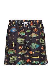 Swim Shorts Sandhamn Fish - BLACK