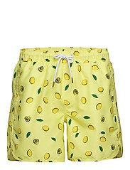 Swim Shorts Sandhamn Lemons - YELLOW