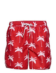 Swim Shorts Sandhamn Palms - RED