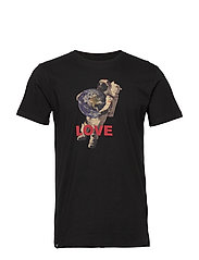 T-shirt Stockholm Astro Love - BLACK