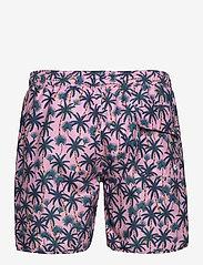 DEDICATED - Swim Shorts Beach Palms - shorts de bain - pink - 1