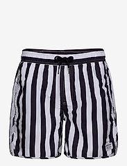 DEDICATED - Swim Shorts Big Stripes - shorts de bain - white - 0
