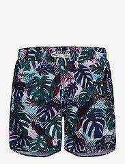 DEDICATED - Swim Shorts Color Leaves - shorts de bain - green - 0