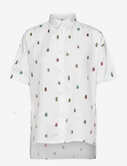 DEDICATED - Shirt Short Sleeve Nibe Bugs - overhemden met korte mouwen - white - 0