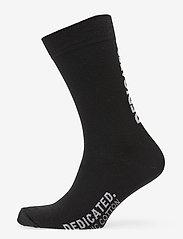 DEDICATED - Socks Sigtuna Dedicated Logo - chaussettes régulières - black - 0