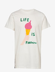DEDICATED - T-shirt Stockholm Life Is Fantastic - printti t-paidat - off-white - 0