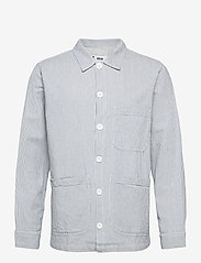 DEDICATED - Worker Jacket Sala Thin Stripes - chemises à carreaux - blue - 0