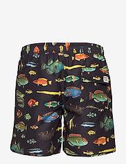 DEDICATED - Swim Shorts Sandhamn Fish - badehosen - black - 1