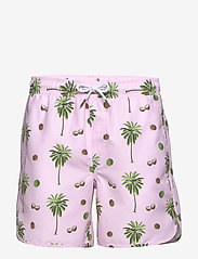 DEDICATED - Swim Shorts Sandhamn Coconuts - uimashortsit - pink - 0