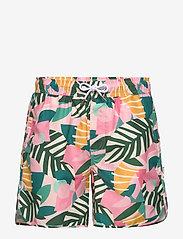 DEDICATED - Swim Shorts Sandhamn Collage Leaves - shorts de bain - pink - 0