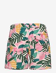 DEDICATED - Swim Shorts Sandhamn Collage Leaves - shorts de bain - pink - 1