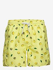 DEDICATED - Swim Shorts Sandhamn Lemons - uimashortsit - yellow - 0