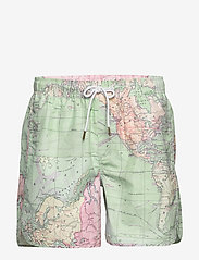 DEDICATED - Swim Shorts Sandhamn Map - badehosen - multi color - 0