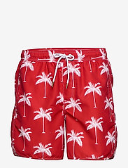 DEDICATED - Swim Shorts Sandhamn Palms - uimashortsit - red - 0