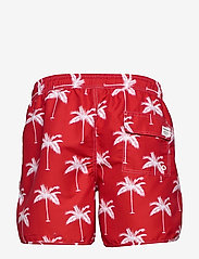 DEDICATED - Swim Shorts Sandhamn Palms - uimashortsit - red - 1